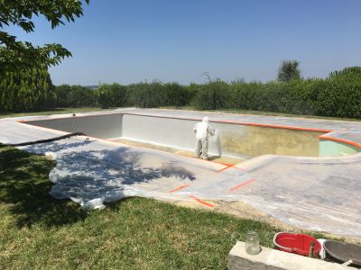 RENOVATION D'UNE PISCINE BETON A AUCH 32